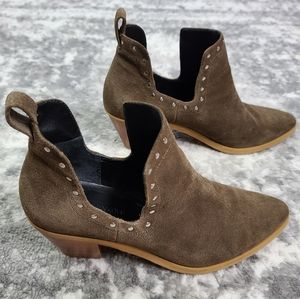 Rebacca Minkoff Studded Suede Annett Ankle Booties